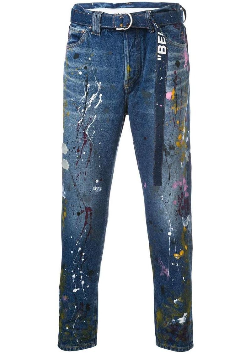 Off-White adjustable waist jeans