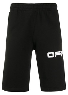 Off-White airport tape track shorts