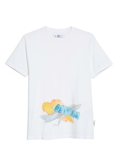 Andre Walker x Off-White Slim Fit Watercolor Print T-Shirt
