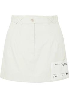 Off-White Appliquéd Cotton-canvas Mini Skirt