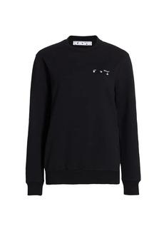 Off-White Arrow Liquid Melt Crewneck Sweater