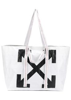 Off-White arrow logo shopper tote
