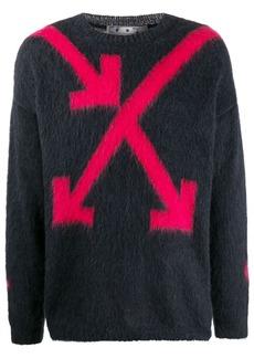 Off-White Arrows intarsia jumper