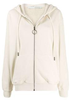 Off-White Arrows print zip-up hoodie