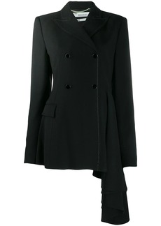 Off-White asymmetric draped blazer