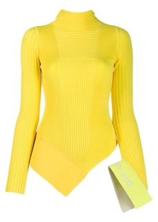 Off-White asymmetric knitted top