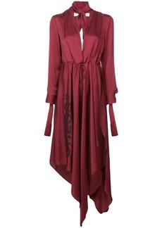 Off-White asymmetric plunge-neck dress