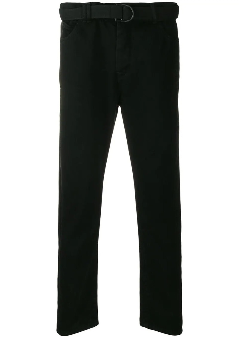 Off-White belted loose-fit jeans