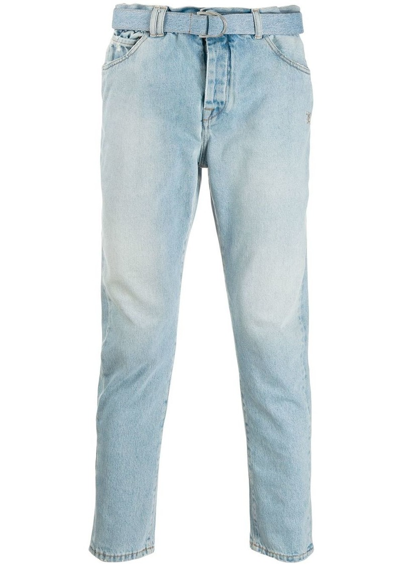 Off-White belted skinny jeans