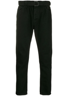 Off-White belted slim-fit jeans