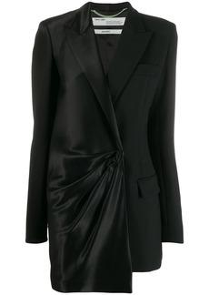 Off-White bi-material blazer dress