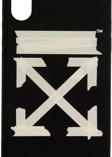 Off-White Black & Beige Tape Arrows iPhone XR Case