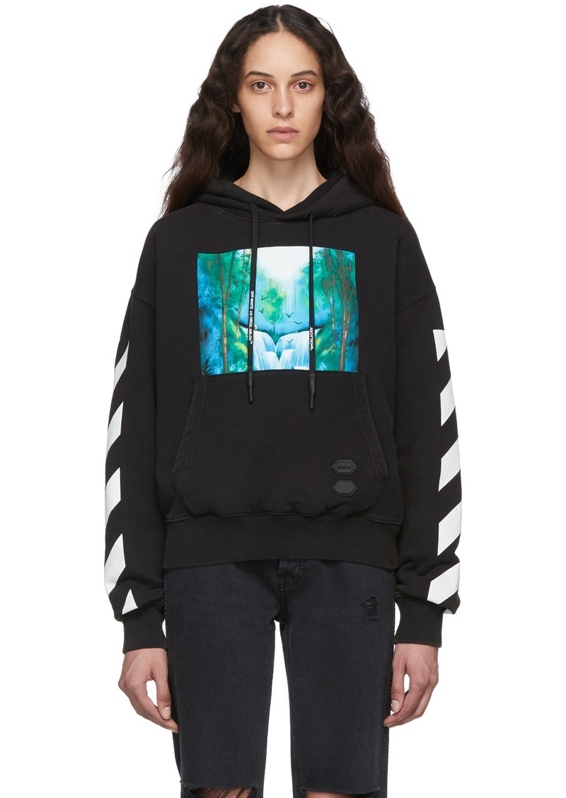 Off-White Black & Multicolor Diag Waterfall Over Hoodie