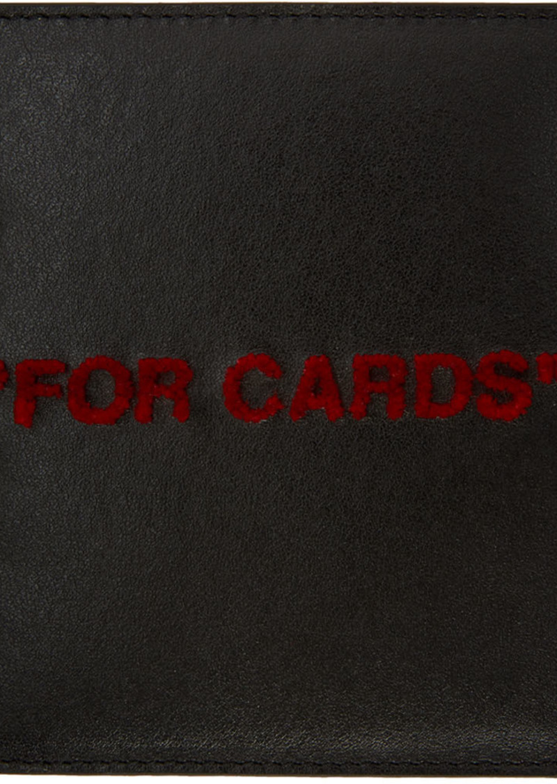 Off-White Black & Red Quote Card Holder
