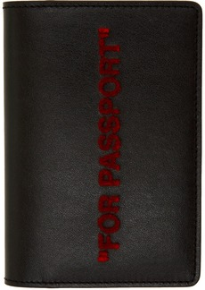 Off-White Black & Red Quote Passport Holder