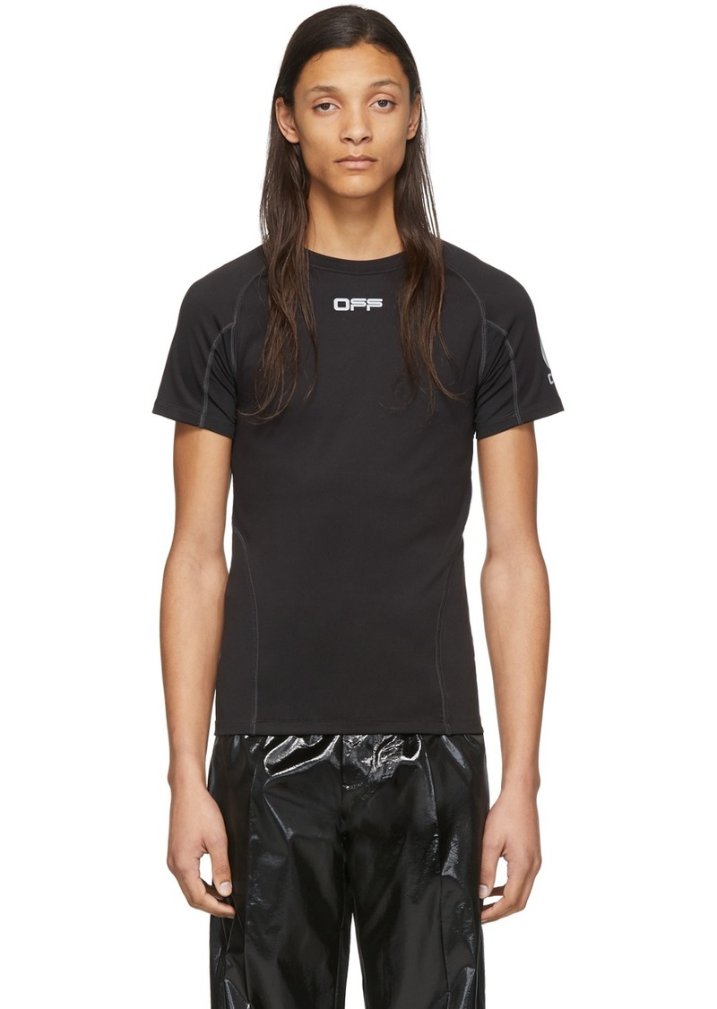 Off-White Black & Silver Running T-Shirt