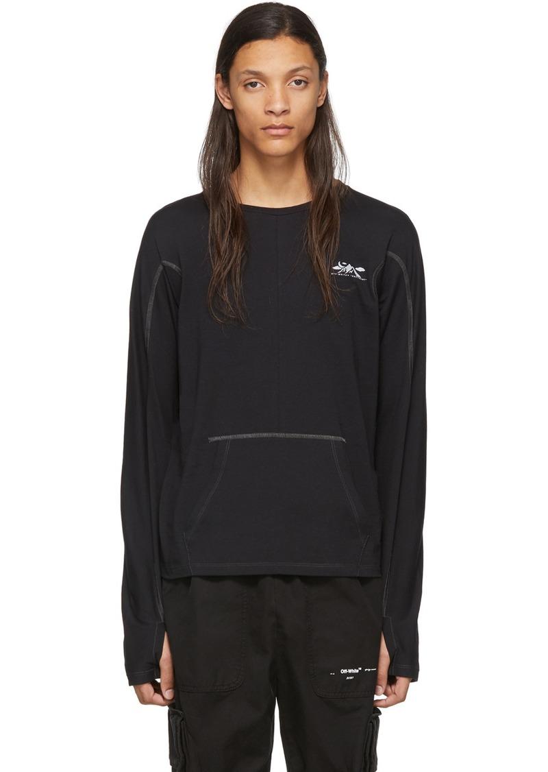 Off-White Black & Silver Wool Base Arrows Long Sleeve T-Shirt