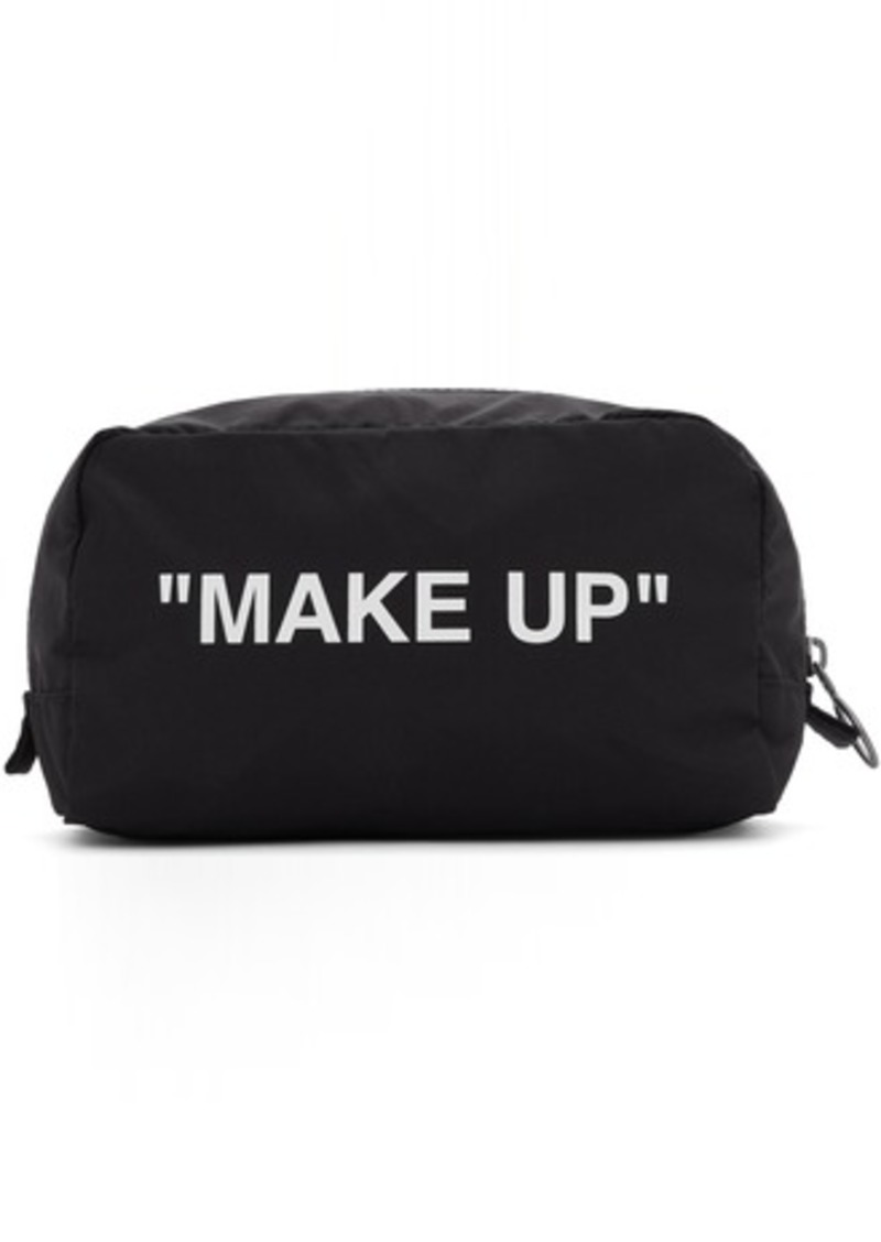 "Off-White Black & White ""Make Up"" Pouch"
