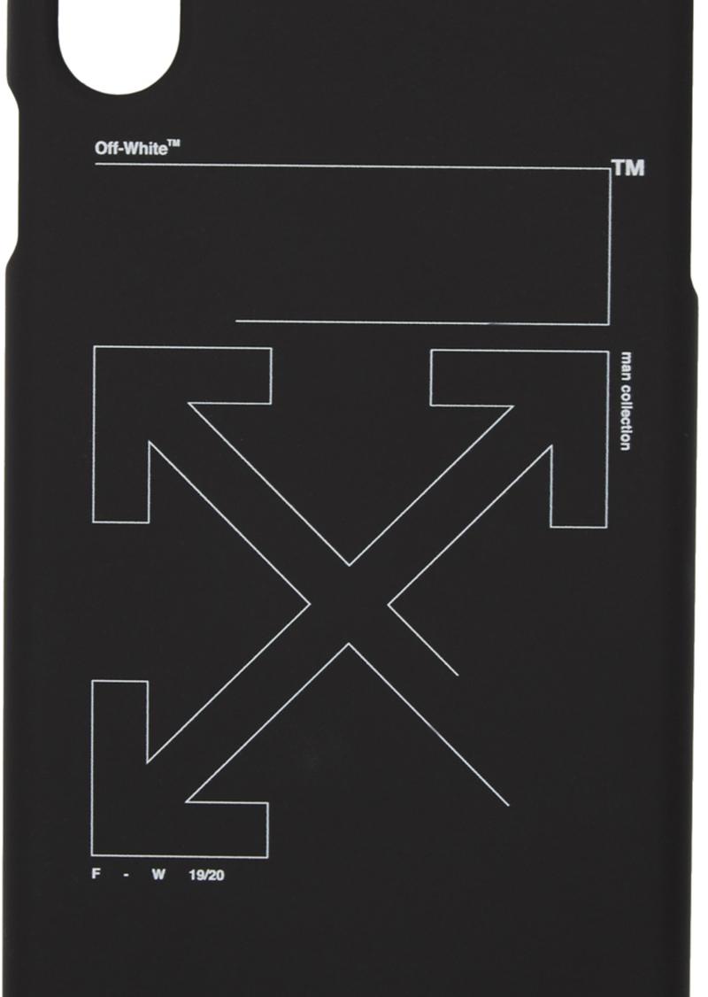 Off-White Black & White Unfinished iPhone X Case