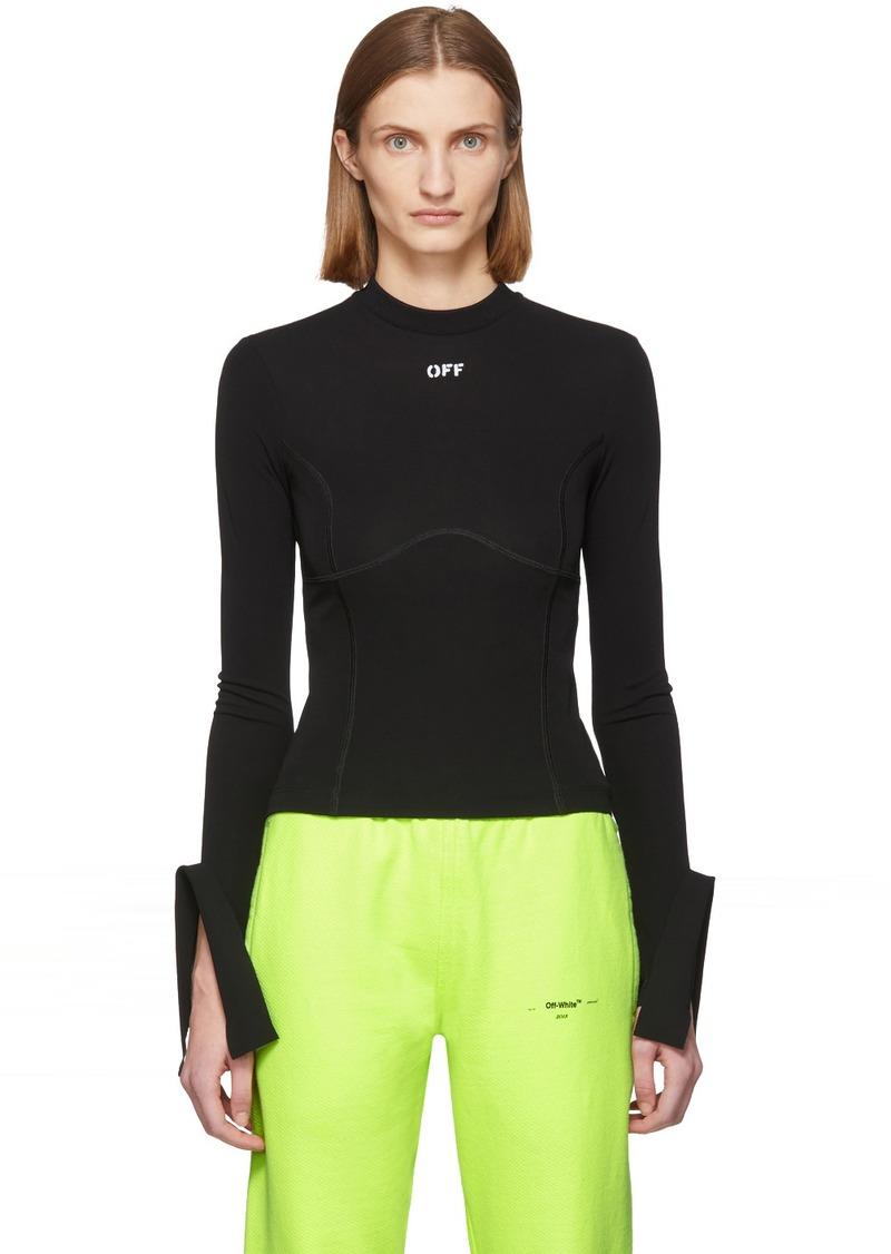 Off-White Black Active Multi Detail Sweatshirt