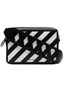 Off-White black and white diag leather belt bag