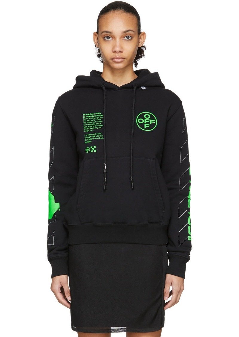 Off-White Black Arch Shapes Hoodie
