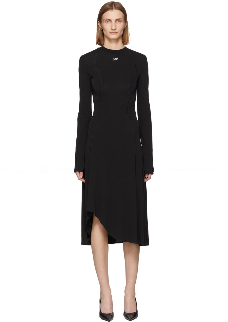 Off-White Black Asymmetric Fluid Dress