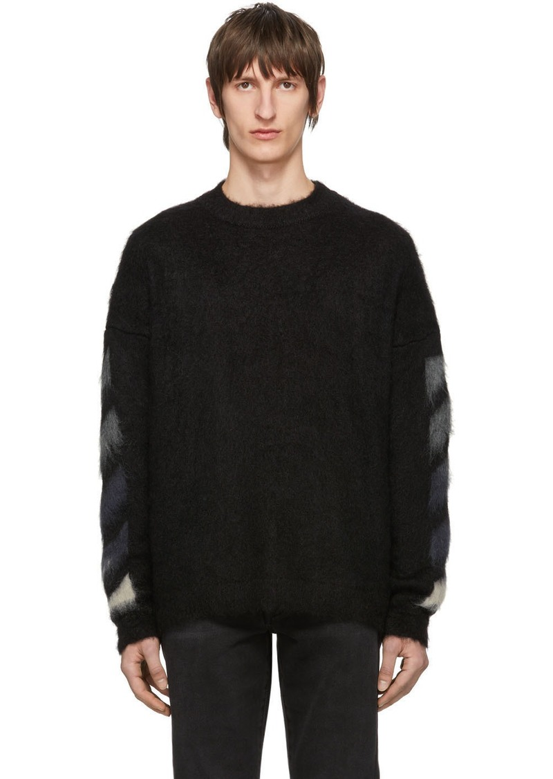 Off-White Black Brushed Diag Sweater