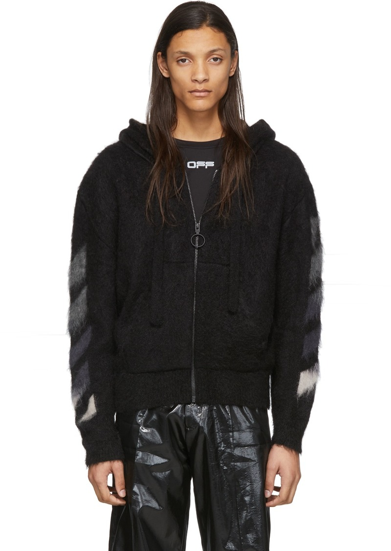Off-White Black Brushed Mohair Hoodie
