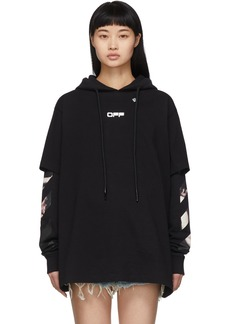 Off-White Black Caravaggio Double Tee Hoodie