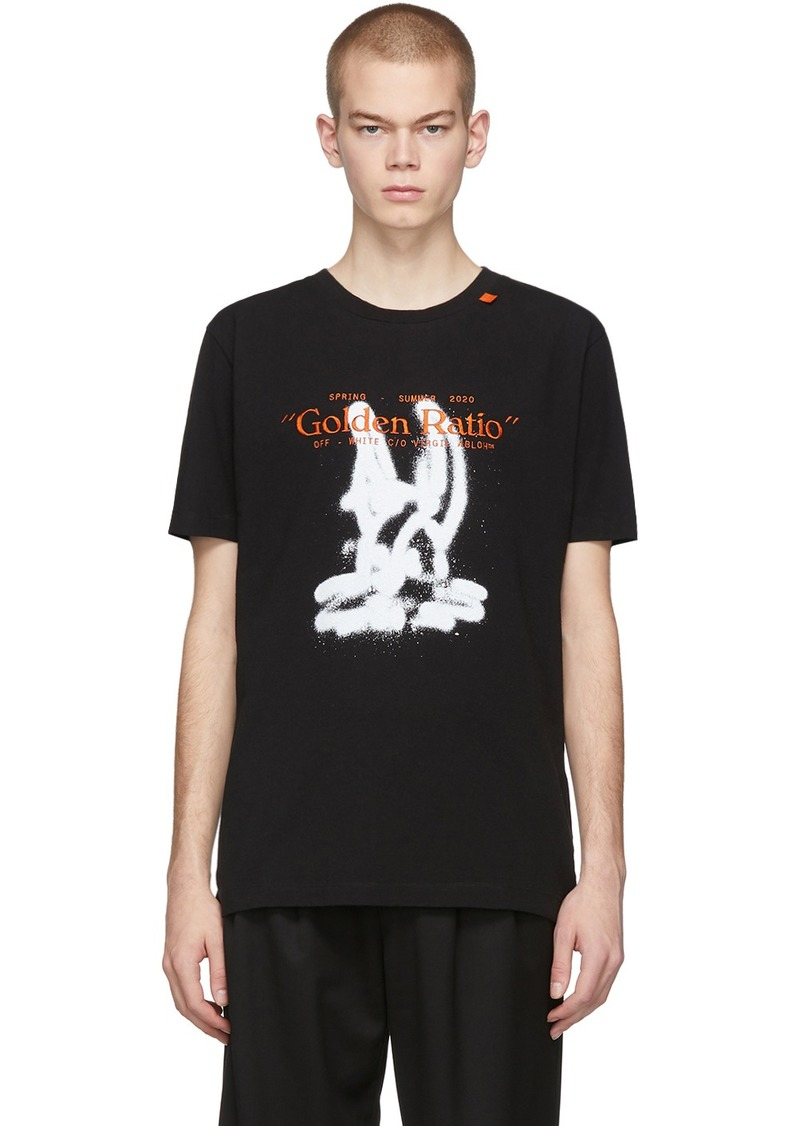 Off-White Black Cartoon T-Shirt