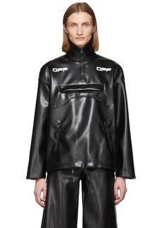 Off-White Black Coated Anorak Jacket