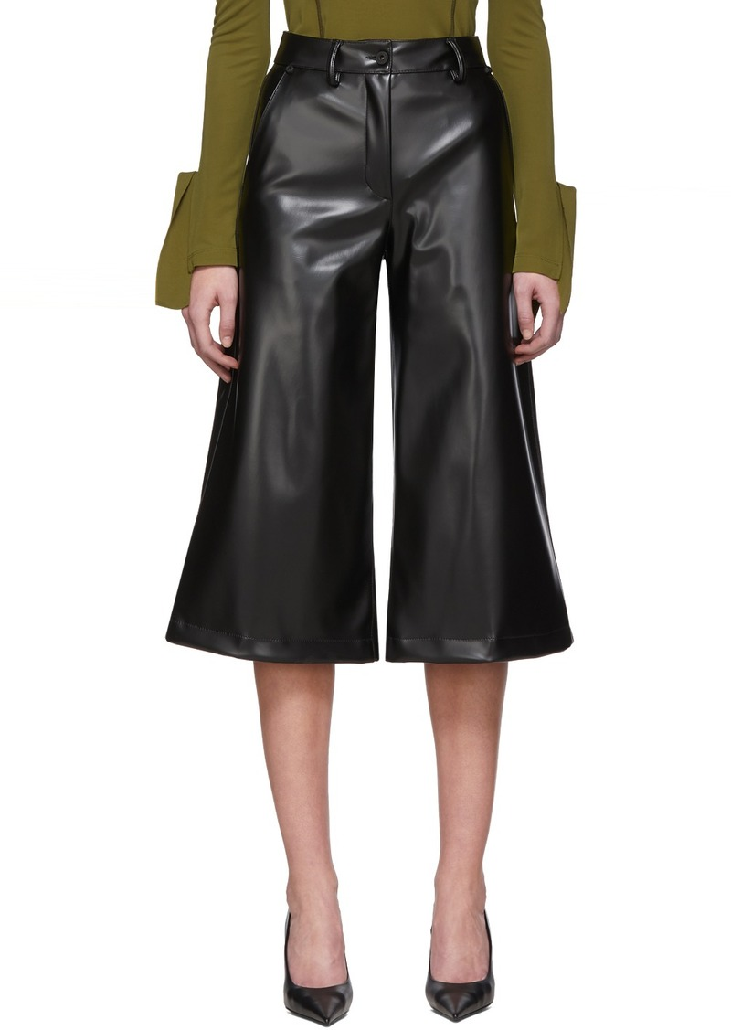 Off-White Black Coated Culottes