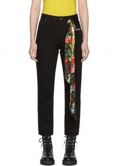 Off-White Black Crop Jeans
