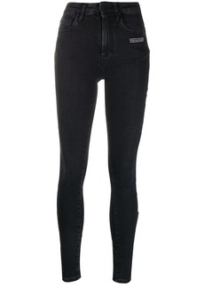 Off-White embroidered logo skinny jeans