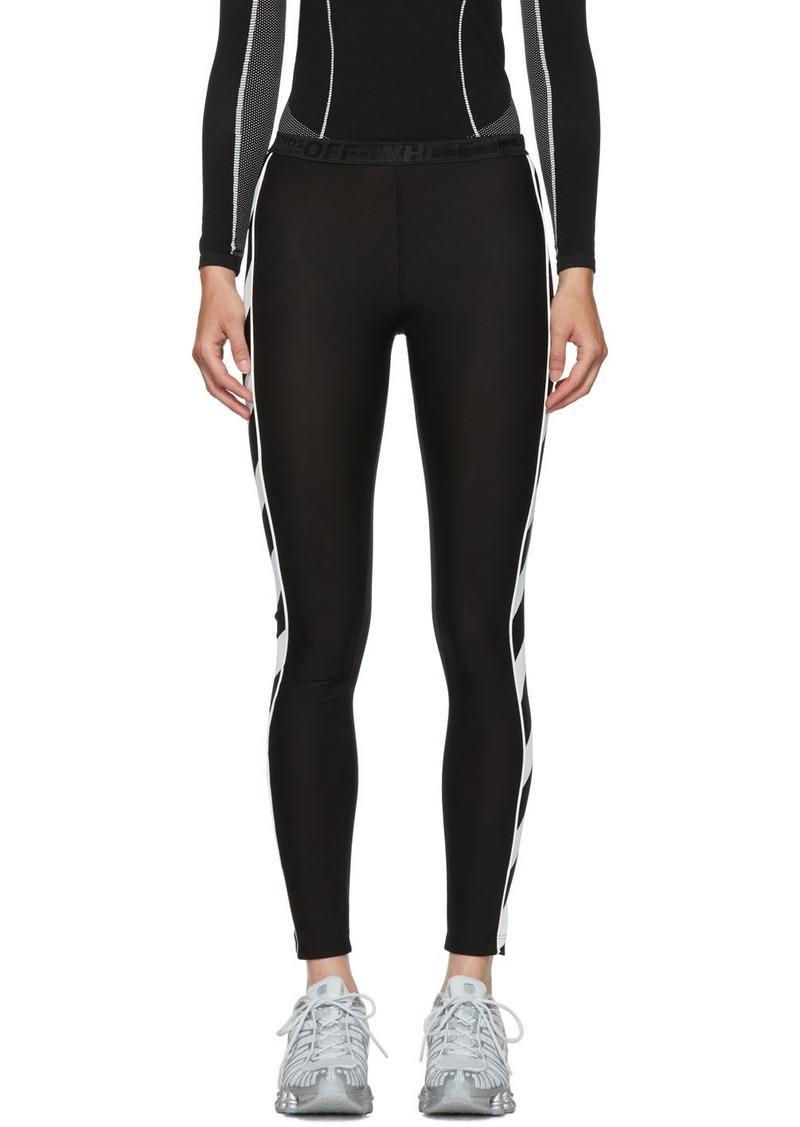 Off-White Black Diag Athletic Leggings