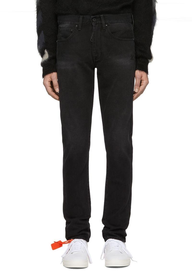 Off-White Black Diag Jeans