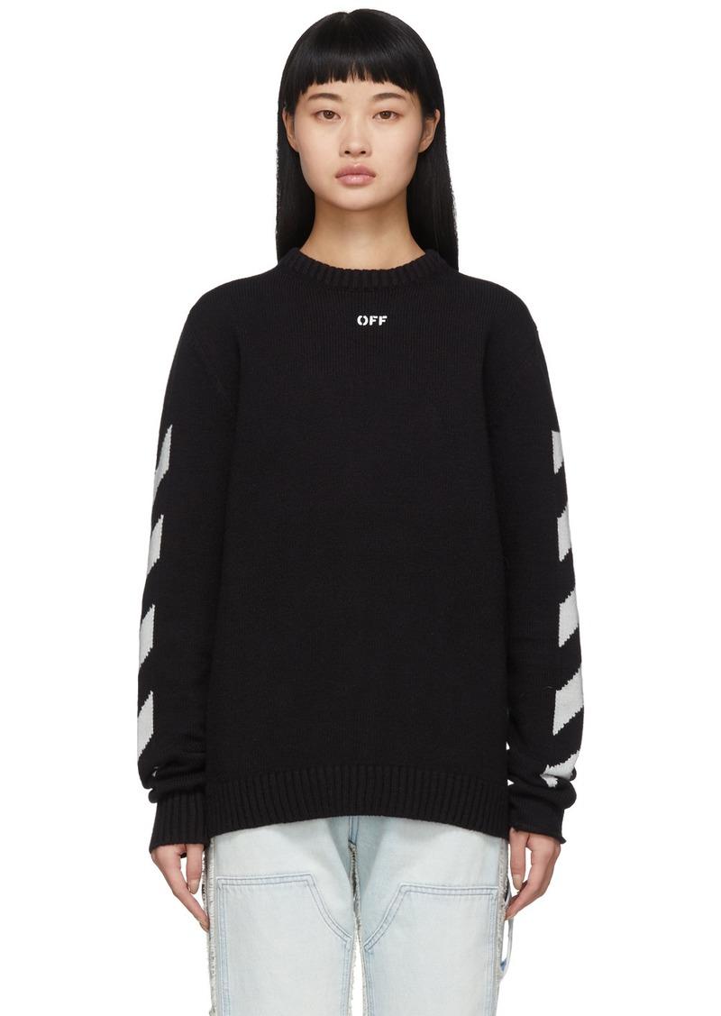 Off-White Black Diag Logo Sweater