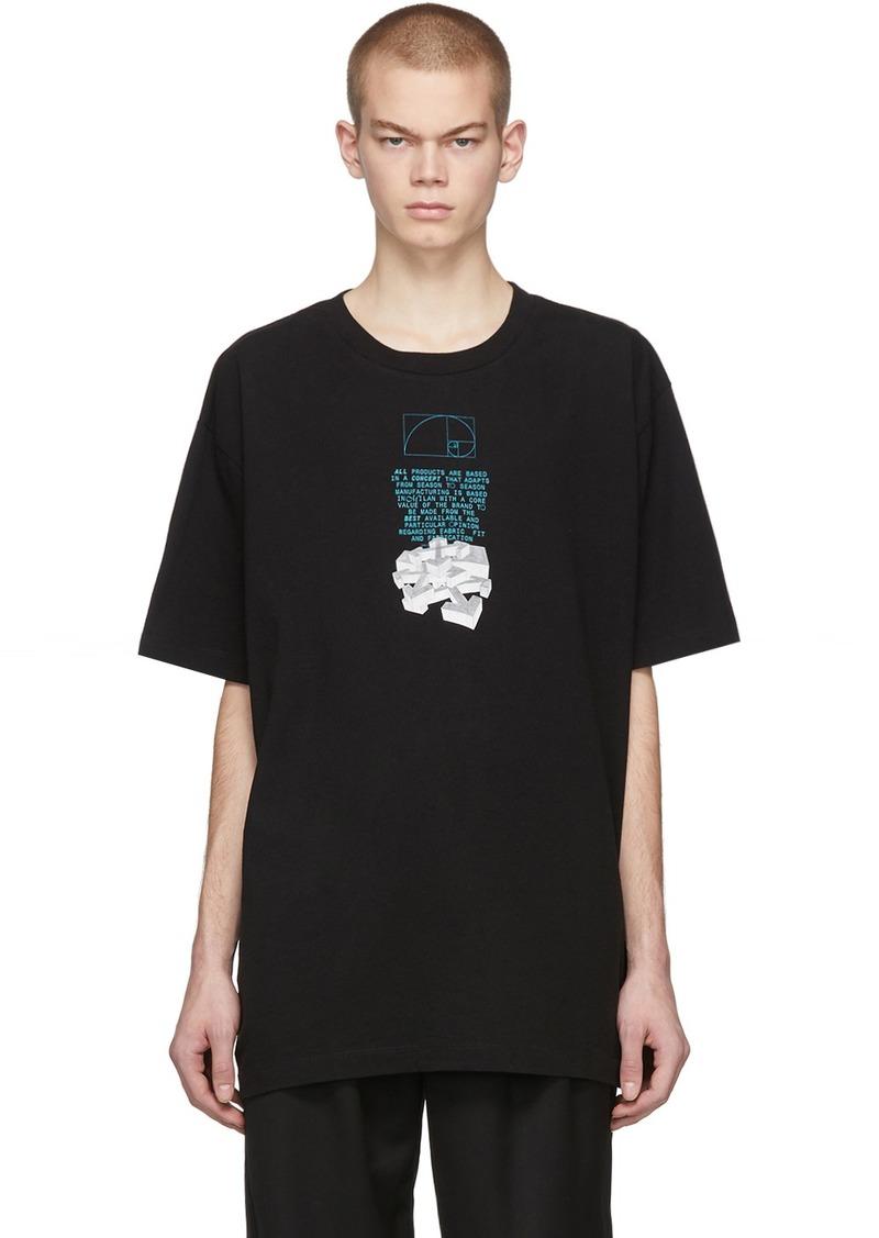 Off-White Black Dripping Arrow T-Shirt