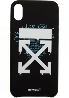 Off-White Black Dripping Arrows iPhone XS Max Case