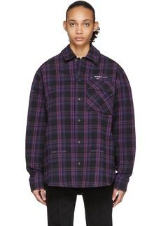 Off-White Black Flannel Check Shirt