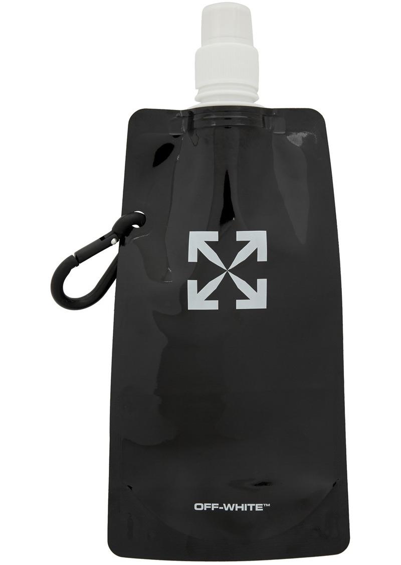 Off-White Black Flexible Water Bottle
