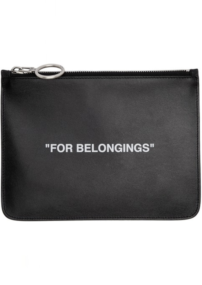 Off-White Black 'For Belongings' Pouch