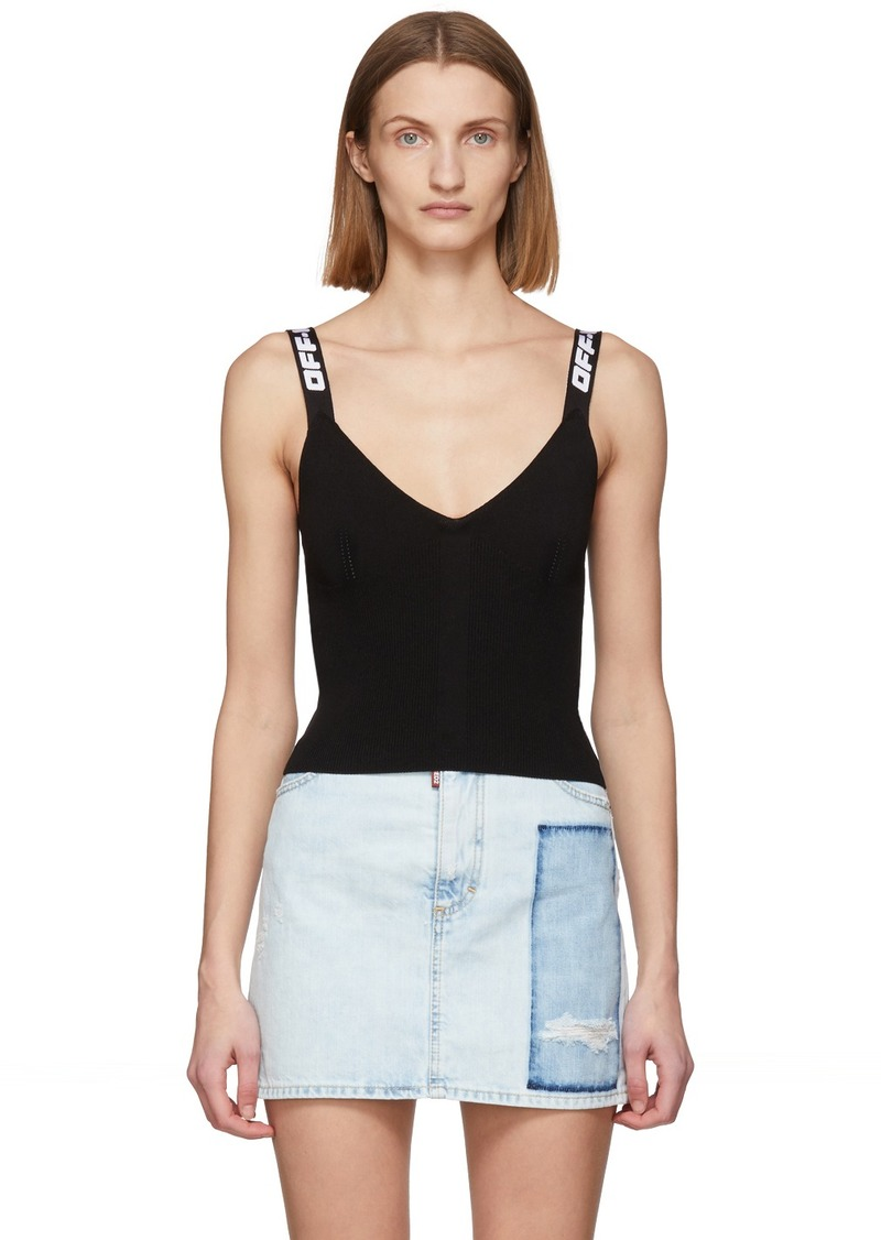 Off-White Black Industrial Knit Tank Top
