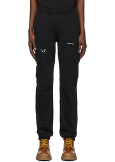 Off-White Black Jersey Logo Cargo Trousers