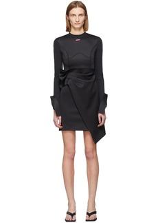 Off-White Black Jersey Wrap Dress