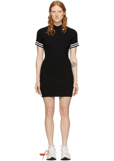 Off-White Black Knit Industrial Polo Dress