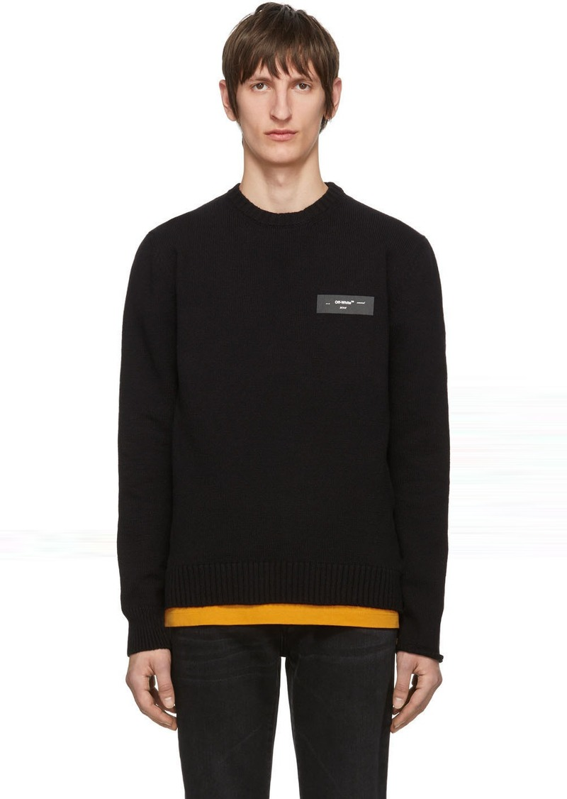 Off-White Black Knit Logo Sweater