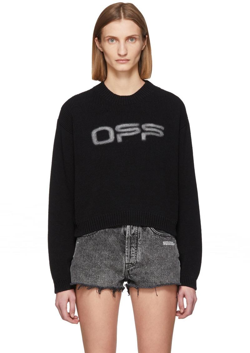 Off-White Black Logo Knit Sweater