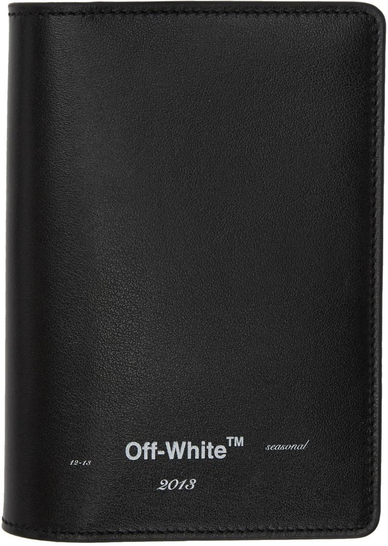 Off-White Black Logo Passport Holder